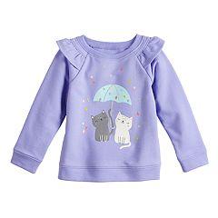 Baby Girl Jumping Beans® Raglan Ruffle Sweatshirt