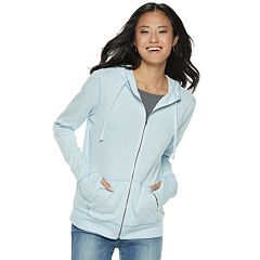 Juniors' SO® Solid Zip Front Hoodie