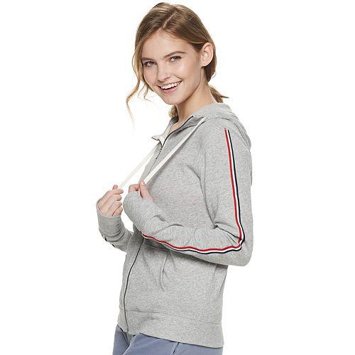 Juniors' SO® Solid Zip Front Hoodie