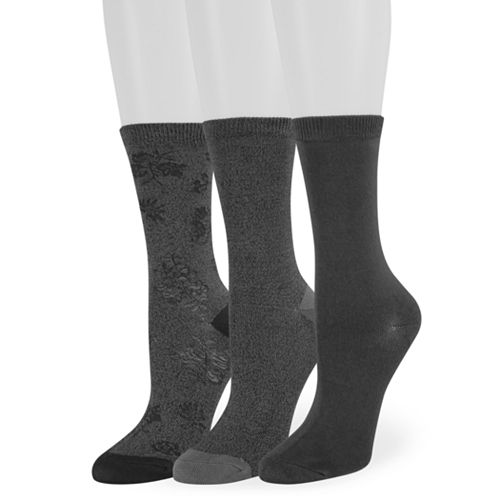 Women's SONOMA Goods for Life™ 3-Pack Floral Texture Crew Socks
