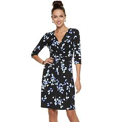Petite Suite 7 Jersey 3/4-sleeve Midi Dress