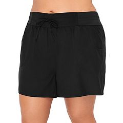 Plus Size Croft & Barrow® Tummy Slimmer Tactel Swim Shorts