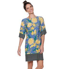 Petite Suite 7 Kimono-Sleeve Shift Dress