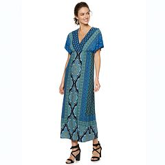 Petite Suite 7 Dolman-Sleeve Wrap Maxi Dress