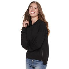 Juniors' SO® Side-Zip Fleece Hoodie
