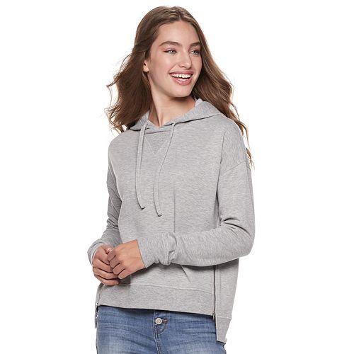 Juniors' SO® Side-Zip Fleece Hoodie