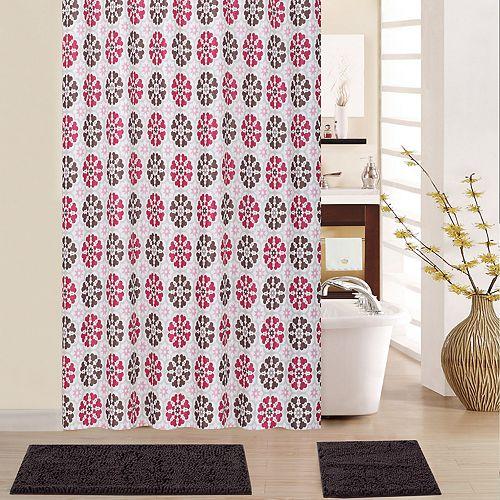 Waverly Merry Go Round 15-piece Shower Curtain Set