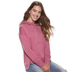 Juniors' SO® Fleece Side-Zip Hoodie