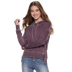 Juniors' SO® Fleece Side-Zip Hoodie