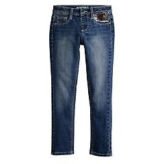 Girls 4-12 SONOMA Goods for Life® Flip-Sequin Heart Skinny Jeans