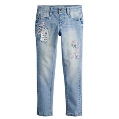 Girls 4-12 SONOMA Goods for Life® Floral Embroidered Skinny Jeans