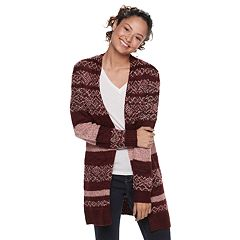 Juniors' It's Our Time Jacquard Boyfriend Cardigan