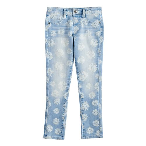 Girls 4-12 SONOMA Goods for Life™ Floral Skinny Jeggings