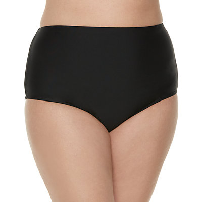 Plus Size Croft & Barrow® High-Waisted Bikini Bottoms