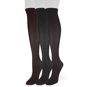 Women's SONOMA Goods for Life® 3-Pack Soft & Comfortable Knee-High Socks
