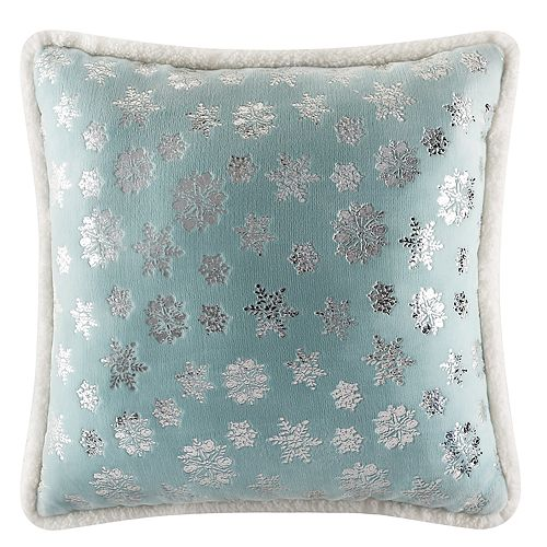 Cuddl Duds Plush Silver Foil Throw Pillow