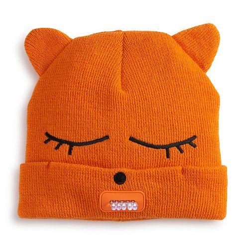 Girls 4-6x Igloos Critter Light-Up Beanie Hat