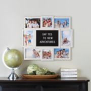 Melannco 8-Opening White Collage Frame & Letter Board