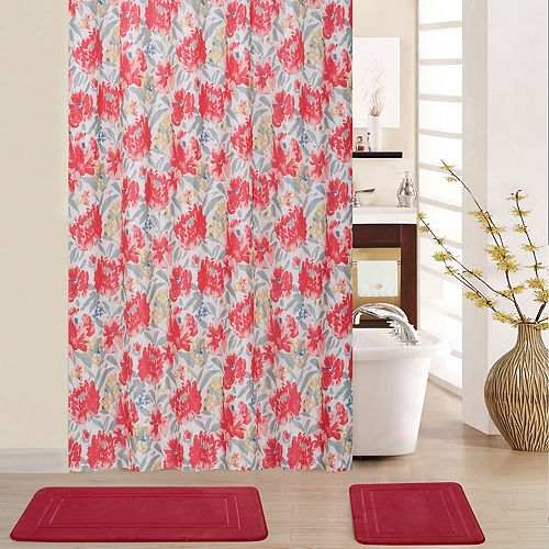 Waverly Spring Froth 15-piece Shower Curtain Set