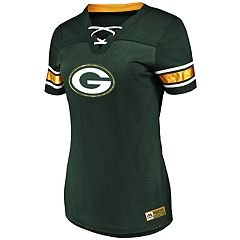Plus Size Green Bay Packers Lace-Up Tee