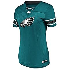 Plus Size Philadelphia Eagles Lace-Up Tee