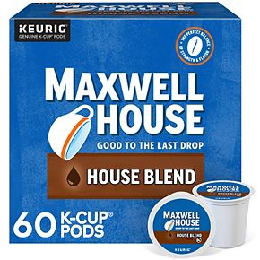 Maxwell House House Blend Coffee, Keurig® K-Cup® Pods, Medium Roast, 60 Count
