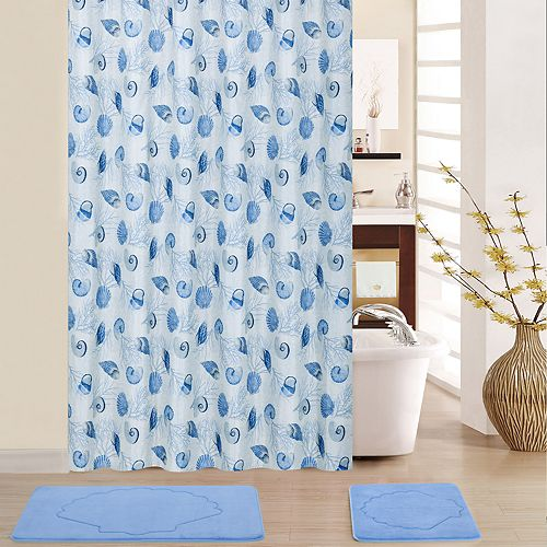 Waverly Shell We Dance 15-piece Shower Curtain Set