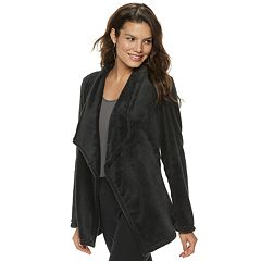 Women's Apt. 9® Plush Faux-Fur Cardigan