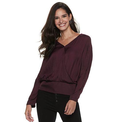 Women's Jennifer Lopez Dolman Surplice Top