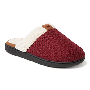 Women's Dearfoams Textured Knit Scuff Slippers