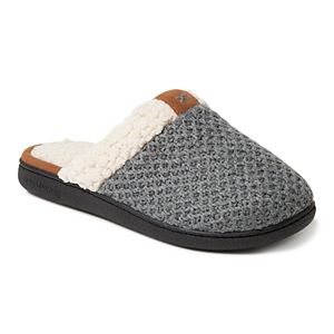 0a444cf1641 Women s Dearfoams Space Dyed Cable Knit Clog Slippers