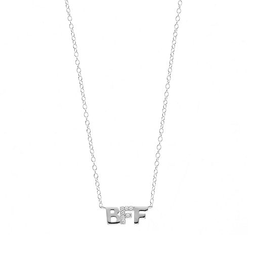 """love this life Sterling Silver Cubic Zirconia """"BFF"""" Necklace"""
