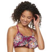 Mix and Match Braided Racerback Flounce Bikini Top
