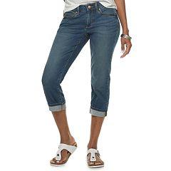 Petite SONOMA Goods for Life™ Curvy Cuffed Capri Jeans