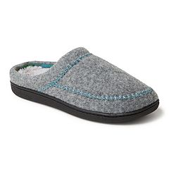 Women's Dearfoams Stitched Felt Clog Slippers
