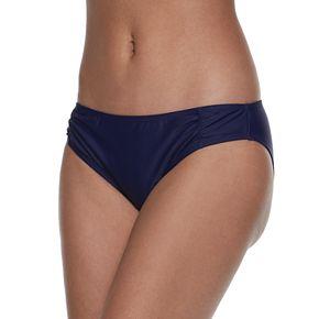 Mix and Match Shirred Midrise Bikini Bottoms