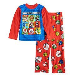 Boys 4-10 Super Mario Bros. 2-Piece Pajama Set