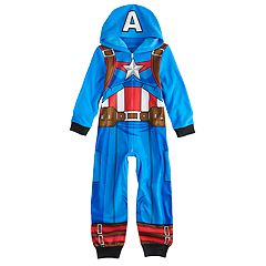 Boys 6-12 Captain America Costume Union Suit