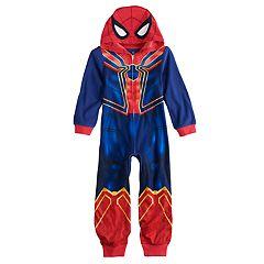 Boys 4-10 Spider-Man Costume Union Suit