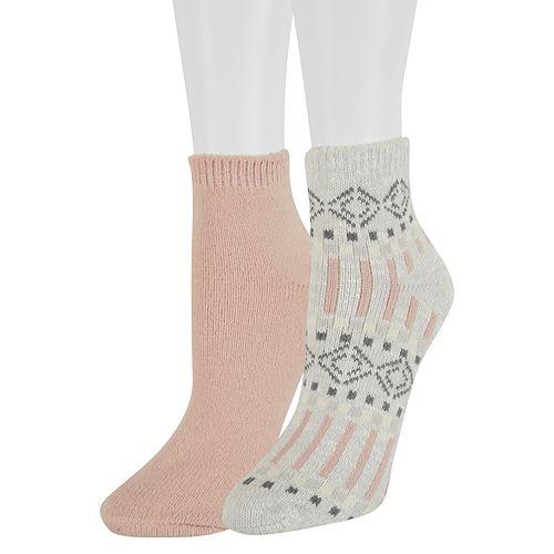 Women's SONOMA Goods for Life™ 2-Pack Slubbed Ankle Socks