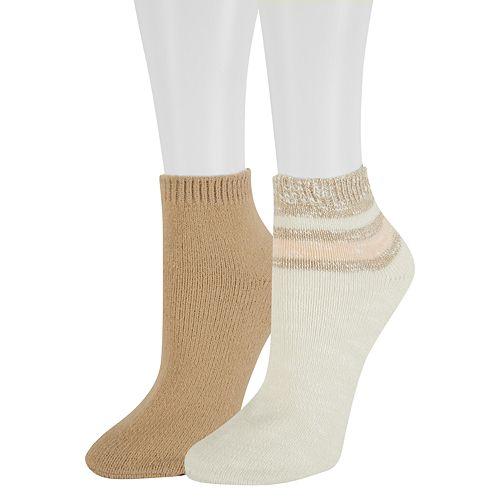 Women's SONOMA Goods for Life™ 2-Pack Colorblock Slubbed Ankle Socks