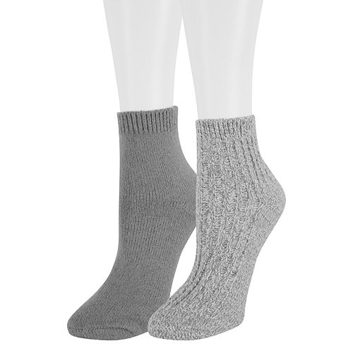 Women's SONOMA Goods for Life™ 2-Pack Lurex Marled Ankle Socks