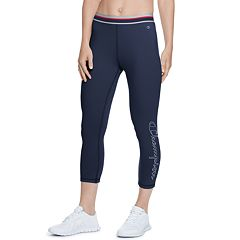 082203d72fc7 Women s Champion Authentic Midrise Capri Leggings. Black Imperial Indigo