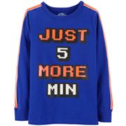 "Boys 4-12 OshKosh B'gosh® ""Just 5 More Min"" Glow in the Dark Active Top"