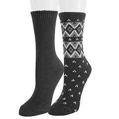 Women's SONOMA Goods for Life™ 2-Pack Fairisle Crew Socks