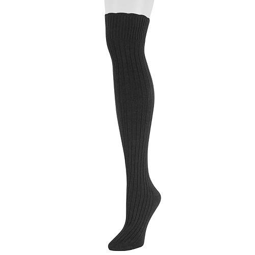 Women's SONOMA Goods for Life™ Scalloped Over-the-Knee Socks