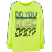 "Boys 4-12 OshKosh B'gosh® ""Do You Game Bro?"" Active Top"