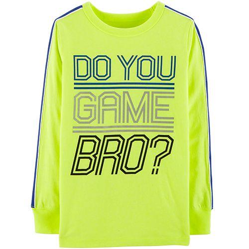 "Boys 4-12 OshKosh B'gosh® ""Do You Game Bro?"" Active Top"