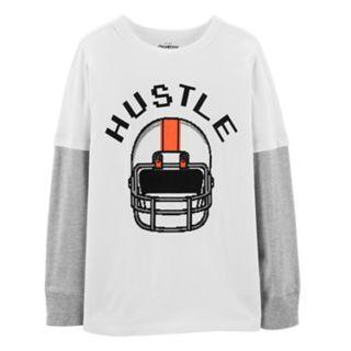 "Boys 4-12 OshKosh B'gosh® ""Hustle"" Football Helmet Mock Layer Graphic Tee"