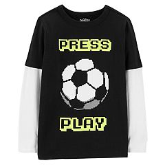 Boys 4-12 OshKosh B'gosh® 'Press Play' Soccer Ball Glow in the Dark Graphic Tee